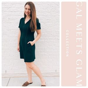 Gal Meets Glam Sutton Box Weave Crepe Dress